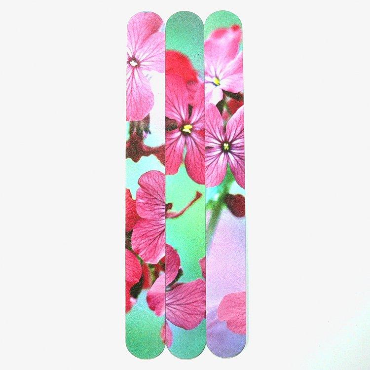 Pilník na nehty 240/240 flowers - Leštičky, leštící bloky a pilníky na nehty pro nehtovou modeláž a manikúru Pilníky na nehty pro nehtovou modeláž a manikúru - rovné