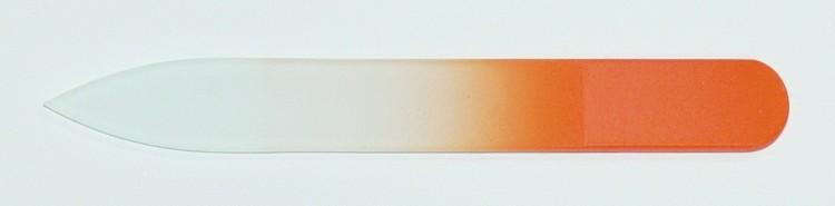 Skleněný barevný pilník 90/2 mm barva oranžová - Leštičky, leštící bloky a pilníky na nehty pro nehtovou modeláž a manikúru Skleněné a barevné pilníky na manikúru Pilníky 9 cm