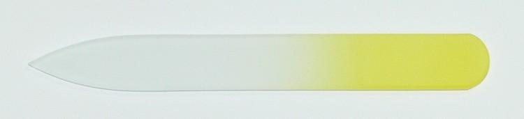 Skleněný barevný pilník 90/2 mm barva žlutá - Leštičky, leštící bloky a pilníky na nehty pro nehtovou modeláž a manikúru Skleněné a barevné pilníky na manikúru Pilníky 9 cm