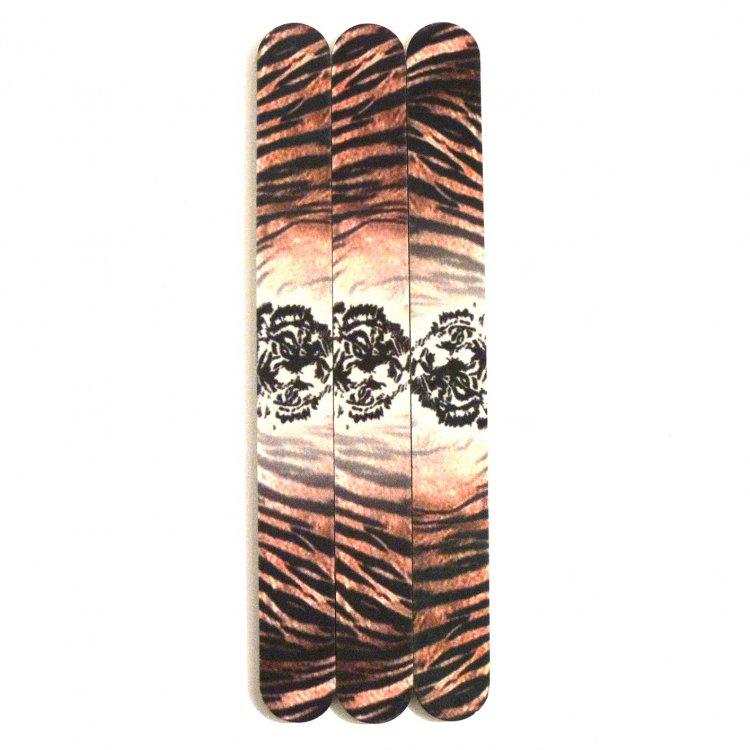 Pilník na nehty 240/240 tiger - Leštičky, leštící bloky a pilníky na nehty pro nehtovou modeláž a manikúru Pilníky na nehty pro nehtovou modeláž a manikúru - rovné