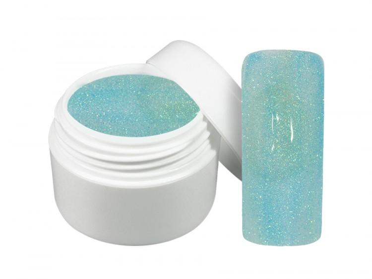 UV gel barevný neon glitter modrý 5 ml