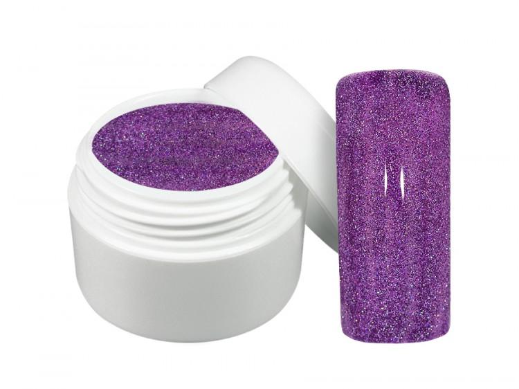 UV gel barevný neon glitter fialový 5 ml - Barevné UV gely Neonové a pastelové barevné UV gely