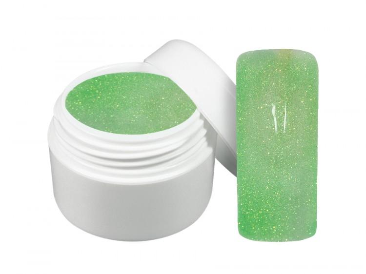 UV gel barevný neon glitter zelený 5 ml