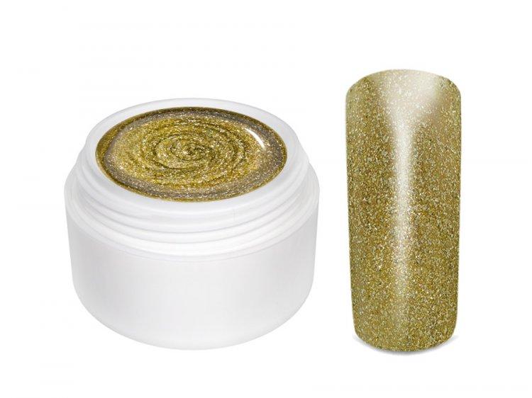 UV gel barevný Extrem Glimmer Copper Gold 5 ml - Barevné UV gely Třpytivé barevné UV gely
