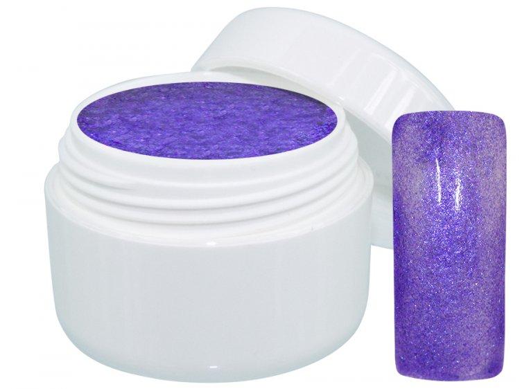 UV gel barevný Extrem Glimmer Purple 5 ml - Barevné UV gely Třpytivé barevné UV gely