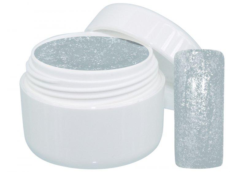 UV gel barevný Extrem Glimmer Silver 5 ml - Barevné UV gely Třpytivé barevné UV gely
