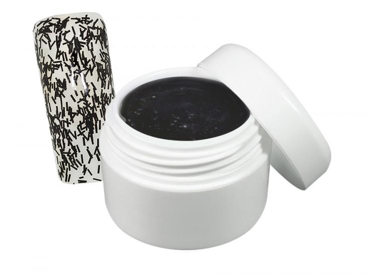 UV gel barevný flitter černý 5 ml - Barevné UV gely Flitrové barevné UV gely