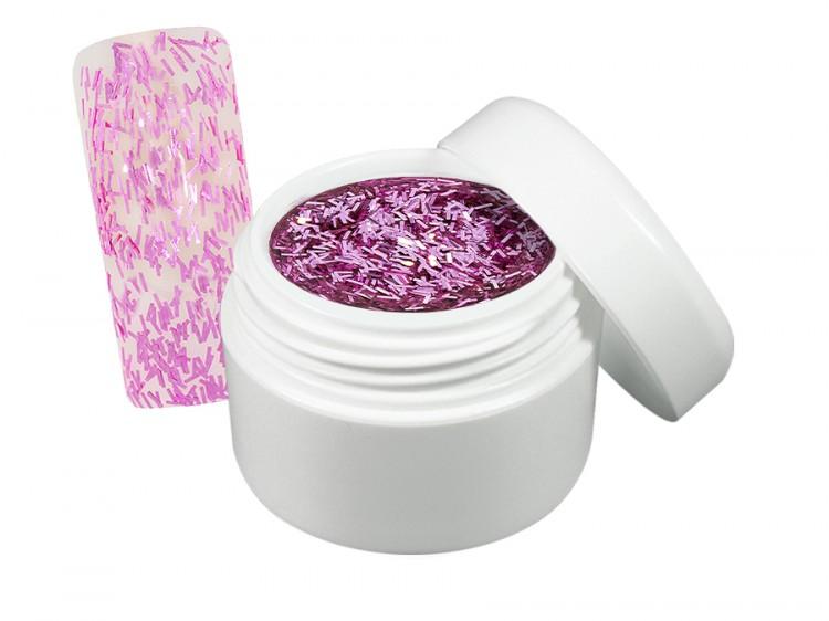UV gel barevný flitter pink 5 ml - Barevné UV gely Flitrové barevné UV gely