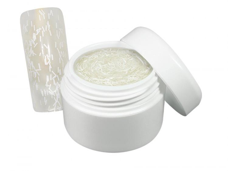 UV gel barevný flitter bílý 5 ml - Barevné UV gely Flitrové barevné UV gely