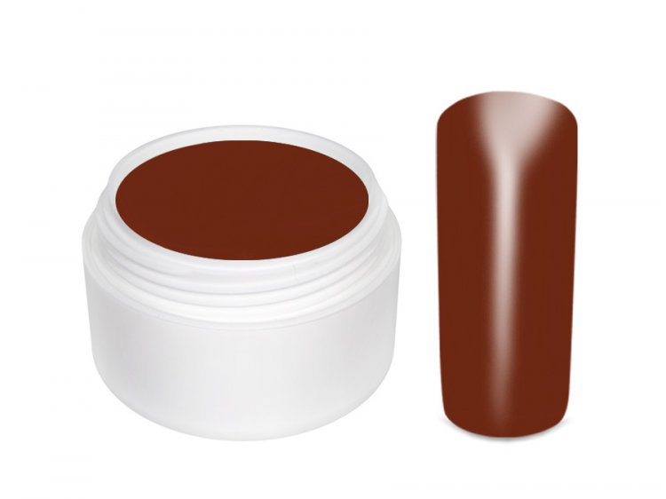 UV gel barevný kaffee 5 ml - Barevné UV gely Základní barevné UV gely
