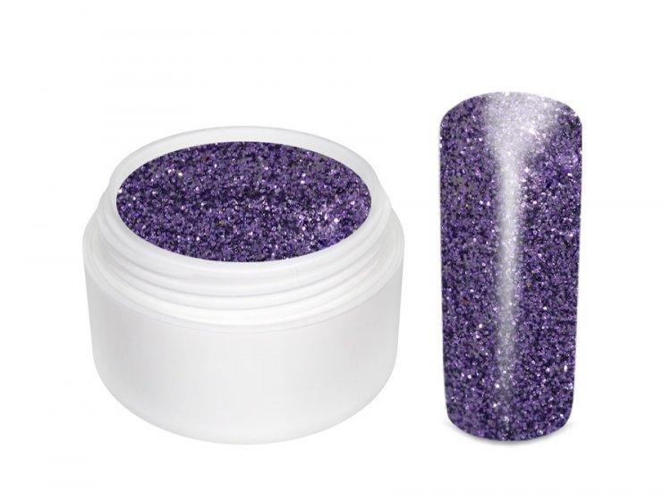UV gel barevný glitrový Lila 5 ml - Barevné UV gely Glitrové barevné UV gely