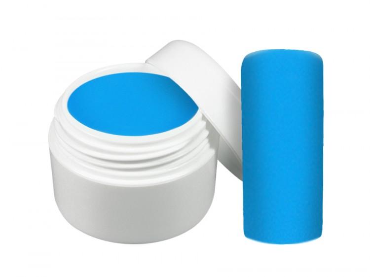 UV gel barevný neon modrý 5 ml - Barevné UV gely Neonové a pastelové barevné UV gely