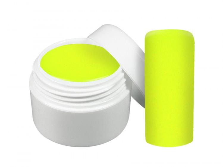 UV gel barevný neon žlutý 5 ml - Barevné UV gely Neonové a pastelové barevné UV gely