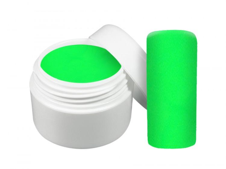 UV gel barevný neon zelený 5 ml - Barevné UV gely Neonové a pastelové barevné UV gely