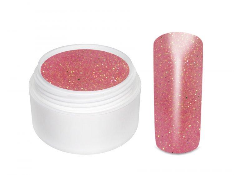 UV gel barevný glitrový Pink 5 ml - Barevné UV gely Glitrové barevné UV gely