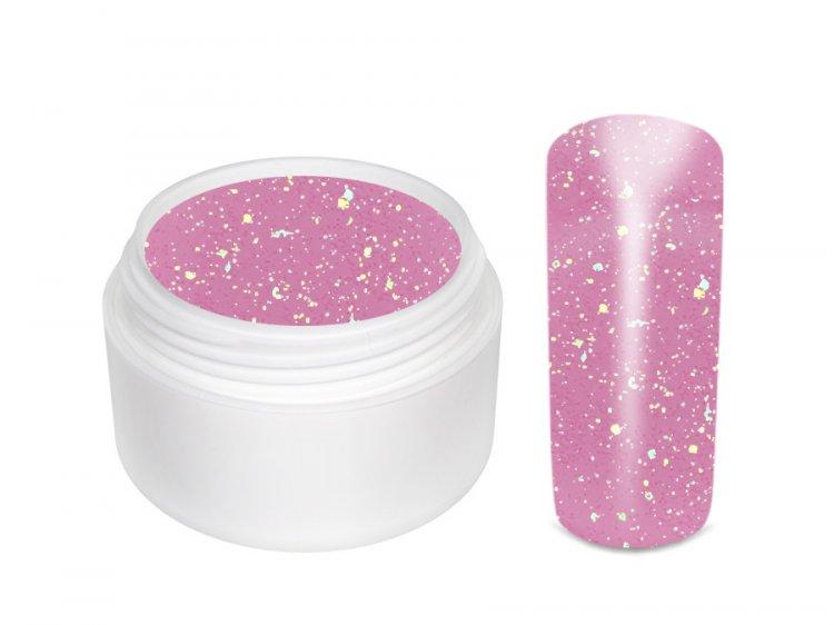 UV gel barevný glitrový Rosa 5 ml - Barevné UV gely Glitrové barevné UV gely