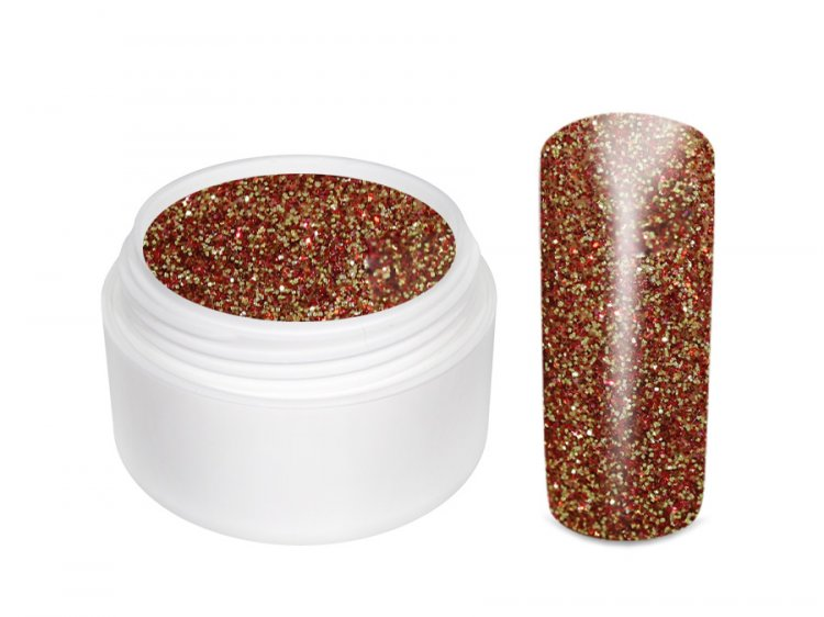 UV gel barevný glitrový Rotgold 5 ml