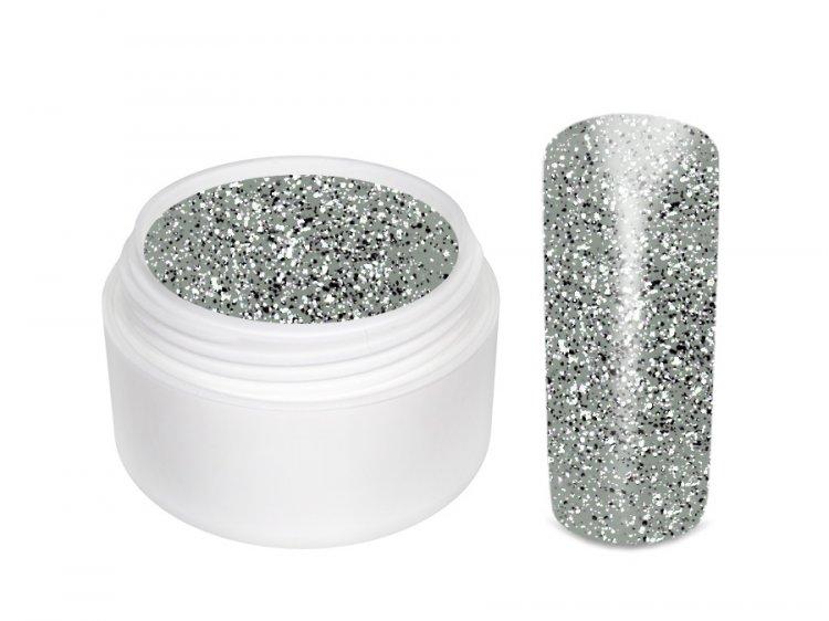 UV gel barevný Extrem Glitter Silber 5 ml - Barevné UV gely Glitrové barevné UV gely
