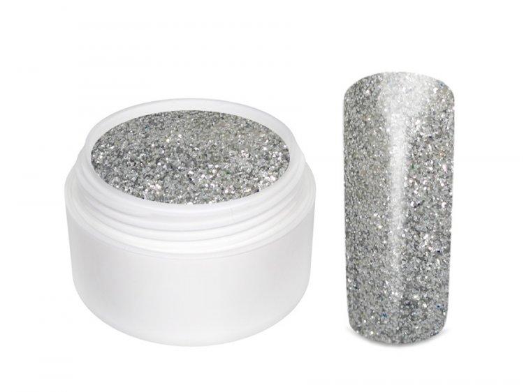 UV gel barevný glitrový Silber 5 ml
