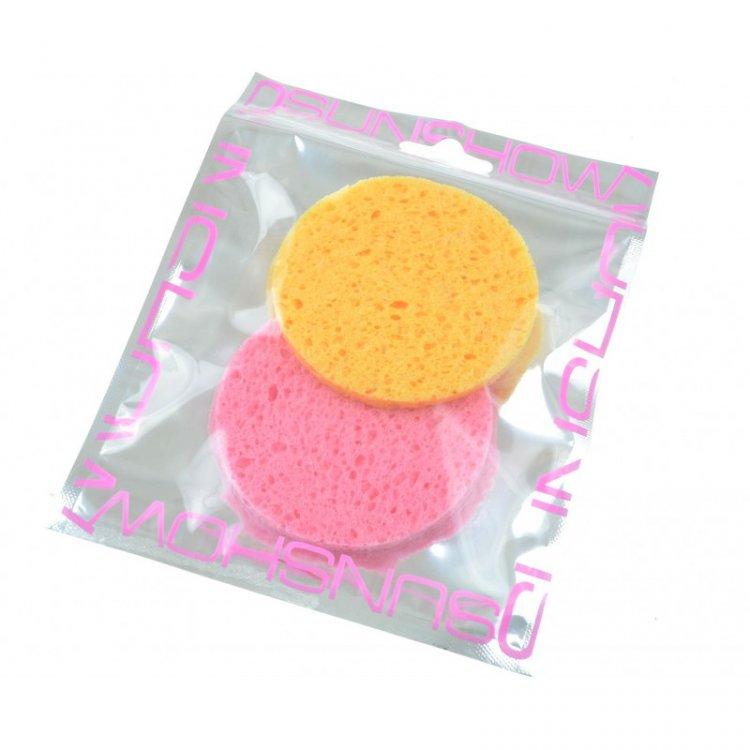 Houbička na makeup kulatá 2 ks