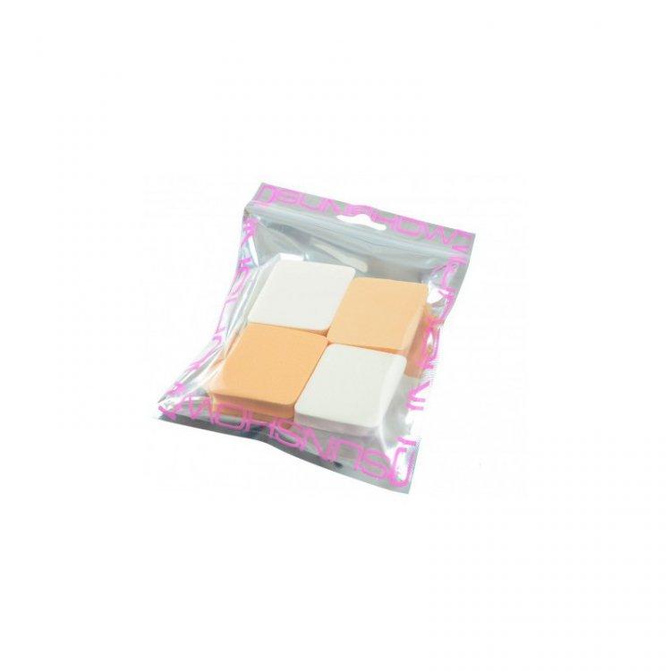 Houbička na makeup kosočtverec 4 ks