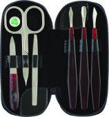 Manikúrní set 6-ti dílná barva černá - Kleště a nůžky na nehty a kůži pro manikúru a pedikúru, pinzety, pilníky, atd. Manikúrní sety, štípátka-klipy