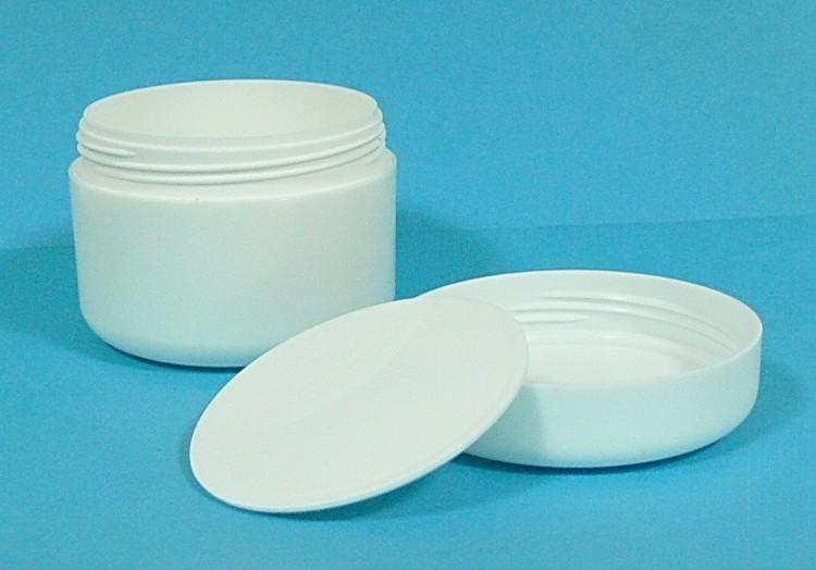 Dóza kosmetická 100 ml bílá dvouplášťová vč. těsnící plastové vložky a víčka - Péče o ruce Obalový materiál