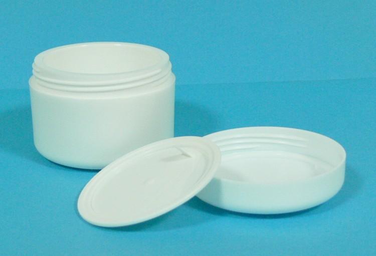 Dóza kosmetická 50 ml bílá dvouplášťová vč. těsnící plastové vložky a víčka