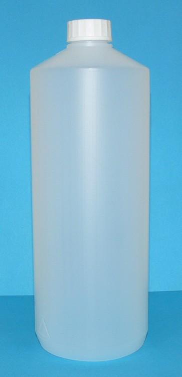 Láhev HDPE 1000 ml transparent vč. víčka - Péče o ruce Obalový materiál