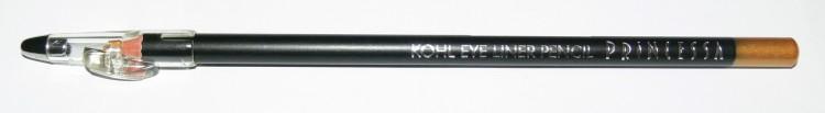 Princessa KOHL PENCIL tužka linkovací dřevěná s ořezávátkem zlatá - Dekorativní kosmetika Tužky linkovací