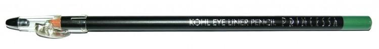 Princessa KOHL PENCIL tužka linkovací dřevěná s ořezávátkem jasně zelená - Péče o ruce Dekorativní kosmetika Tužky linkovací