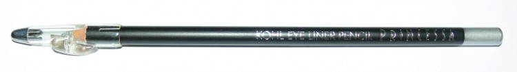 Princessa KOHL PENCIL tužka linkovací dřevěná s ořezávátkem střibrná - Dekorativní kosmetika Tužky linkovací
