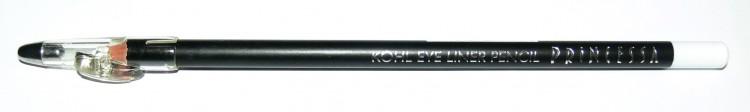 Princessa KOHL PENCIL tužka linkovací dřevěná s ořezávátkem bílá - Péče o ruce Dekorativní kosmetika Tužky linkovací