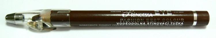 Princessa EYE SHADOW PENCIL tužka stínovací voděodolná s ořezávátkem hnědá - Dekorativní kosmetika Tužky stínovací
