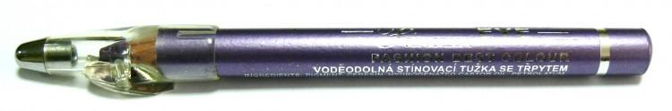 Princessa EYE SHADOW PENCIL tužka stínovací voděodolná s ořezávátkem šeříková s glitrem - Dekorativní kosmetika Tužky stínovací