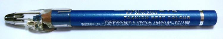 Princessa EYE SHADOW PENCIL tužka stínovací voděodolná s ořezávátkem ledově modrá s glitrem - Dekorativní kosmetika Tužky stínovací