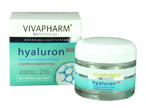 Vivaco VIivapharm Intenzivní pleťový krém s kyselinou hyaluronovou 50 ml - Péče o pleť a tělo Vivaco Pleťové krémy
