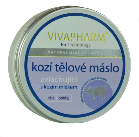 Vivaco Vivapharm Tělové máslo s kozím mlékem 200 ml - Péče o ruce Péče o pleť a tělo Vivaco Tělové krémy, mléka a balzámy
