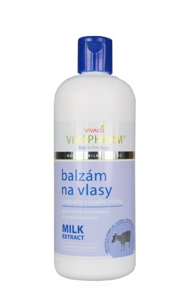 Vivapharm Balzám na vlasy s extrakty z kozího mléka 400 ml