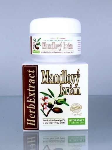 Vivaco Herb Extrakt Mandlový denní krém 50 ml - Péče o pleť a tělo Vivaco Pleťové krémy