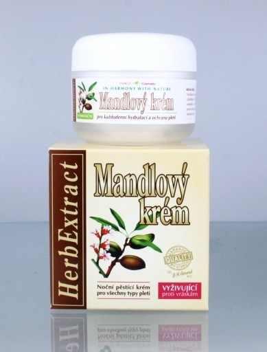 Vivaco Herb Extrakt Mandlový noční krém 50 ml - Péče o pleť a tělo Vivaco Pleťové krémy