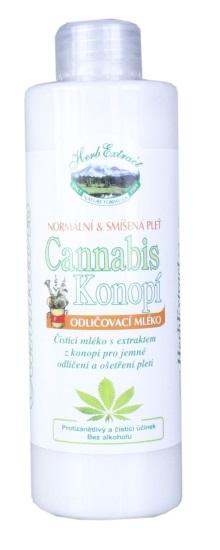 HERB EXTRACT Odličovací mléko Cannabis 200 ml - Péče o pleť a tělo Vivaco Čistící přípravky