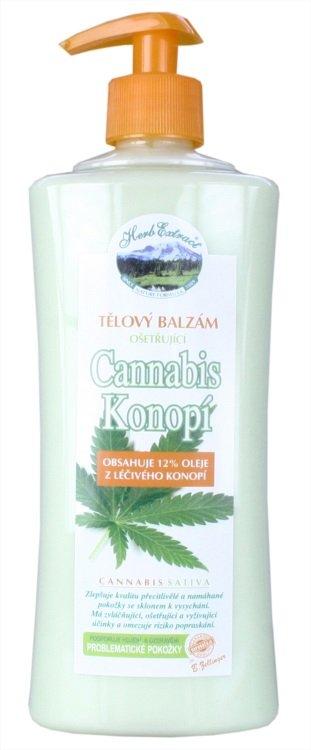 Vivaco Herb Extract Ošetřující tělový balzám Cannabis 500 ml