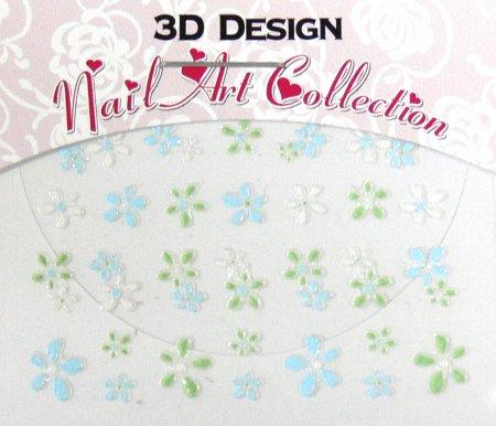 Zdobící nálepky na nehty 3D mini 24905 - Zdobící nálepky a obtisky na nehty Zdobící nálepky na nehty 3D mini - samolepící