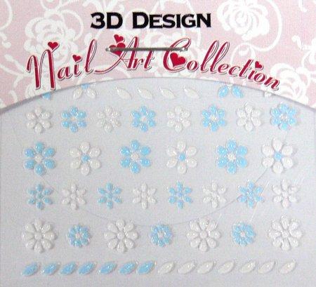Zdobící nálepky na nehty 3D mini 24907 - Péče o ruce Zdobící nálepky a obtisky na nehty Zdobící nálepky na nehty 3D mini - samolepící