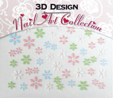 Zdobící nálepky na nehty 3D mini 24909 - Zdobící nálepky a obtisky na nehty Zdobící nálepky na nehty 3D mini - samolepící