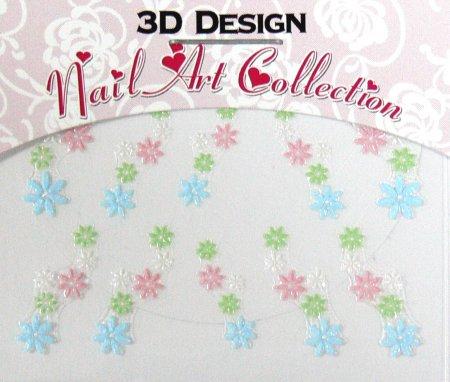Zdobící nálepky na nehty 3D mini 24911 - Péče o ruce Zdobící nálepky a obtisky na nehty Zdobící nálepky na nehty 3D mini - samolepící