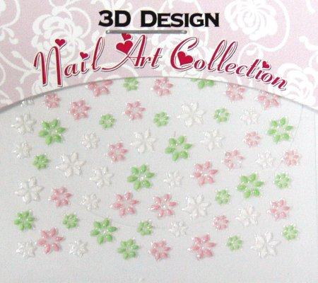 Zdobící nálepky na nehty 3D mini 24914 - Péče o ruce Zdobící nálepky a obtisky na nehty Zdobící nálepky na nehty 3D mini - samolepící