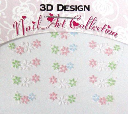 Zdobící nálepky na nehty 3D mini 24915 - Péče o ruce Zdobící nálepky a obtisky na nehty Zdobící nálepky na nehty 3D mini - samolepící