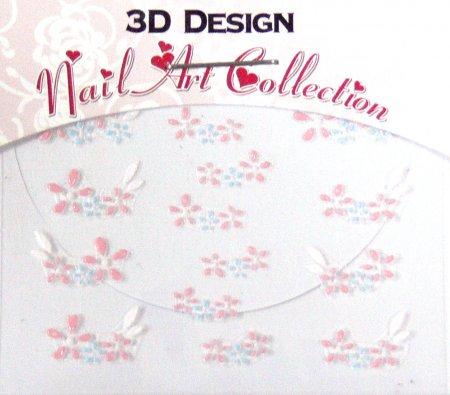Zdobící nálepky na nehty 3D mini 24916